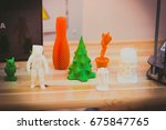 bright colorful objects printed ... | Shutterstock . vector #675847765