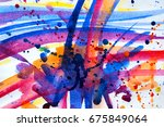 abstract watercolor texture.... | Shutterstock . vector #675849064