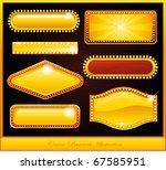 casino design neon sign | Shutterstock .eps vector #67585951