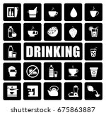 drinking icons set | Shutterstock .eps vector #675863887