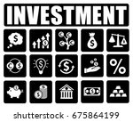 investment icons set | Shutterstock .eps vector #675864199