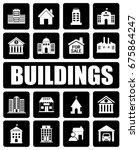 buildings icons set | Shutterstock .eps vector #675864247