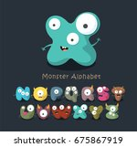 monster cartoon alphabet | Shutterstock .eps vector #675867919
