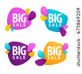 big sale  vector collection of... | Shutterstock .eps vector #675869209