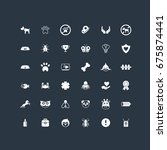 36 pets icons set | Shutterstock .eps vector #675874441