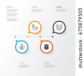 nature icons set. collection of ... | Shutterstock .eps vector #675879505