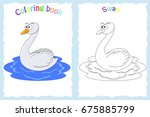coloring book page for... | Shutterstock .eps vector #675885799