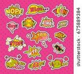 pop art comic speech bubbles... | Shutterstock .eps vector #675889384