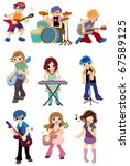 cartoon rock band icon | Shutterstock .eps vector #67589125