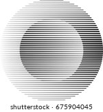 circle logo with lines.unusual... | Shutterstock .eps vector #675904045