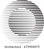 circle logo with lines.unusual... | Shutterstock .eps vector #675904075