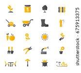 garden icons | Shutterstock .eps vector #675913375