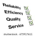 reliability  efficiency ... | Shutterstock .eps vector #675917611