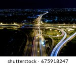Aerial View Of Bangkok Highway...