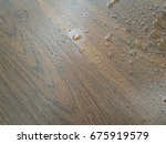 background of water drops on... | Shutterstock . vector #675919579