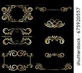 gold frame vintage element... | Shutterstock .eps vector #675920557