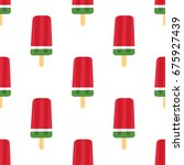 seamless summer pattern with... | Shutterstock .eps vector #675927439
