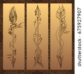 arrows. elements in the style... | Shutterstock .eps vector #675927907
