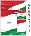 hungary flag abstract colors... | Shutterstock .eps vector #675932749
