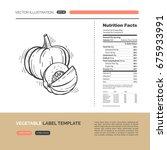 vector concept of fresh healthy ... | Shutterstock .eps vector #675933991
