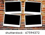 photo framework on old  aged... | Shutterstock . vector #67594372