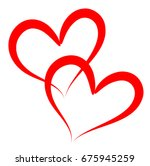 heart love vector. valentine... | Shutterstock .eps vector #675945259