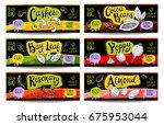 set of colorful labels  sketch...   Shutterstock .eps vector #675953044