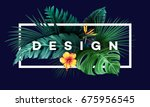 bright tropical background with ... | Shutterstock .eps vector #675956545