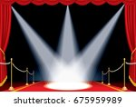 vector opened red curtain stage ... | Shutterstock .eps vector #675959989