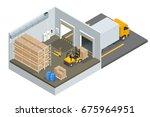isometric large modern... | Shutterstock . vector #675964951