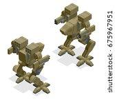 isometric combat robot. high...   Shutterstock .eps vector #675967951
