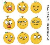 set of emoji emoticon icon ... | Shutterstock .eps vector #675967981
