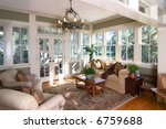 furnished sunroom with large... | Shutterstock . vector #6759688