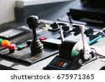 control room of vessel and... | Shutterstock . vector #675971365