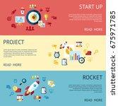 digital raster blue red startup ... | Shutterstock . vector #675971785