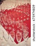 beautiful champagne glasses... | Shutterstock . vector #675974839