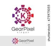 gear pixel initial letter k...   Shutterstock .eps vector #675975055