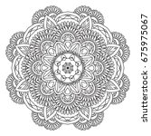 mandala. round ornament.vintage ... | Shutterstock .eps vector #675975067
