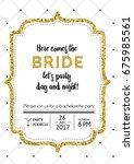 bachelorette party invitation... | Shutterstock .eps vector #675985561