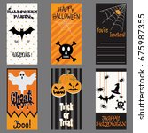 happy halloween invitation card.... | Shutterstock .eps vector #675987355