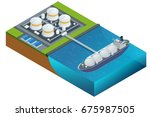 isometric vector illustration... | Shutterstock .eps vector #675987505