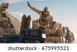 soldiers are using laptop... | Shutterstock . vector #675995521