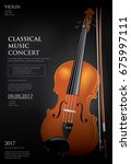 the classical music concept... | Shutterstock .eps vector #675997111