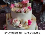 big birthday cake | Shutterstock . vector #675998251
