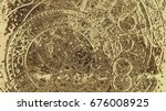 abstract background  filigrane... | Shutterstock . vector #676008925