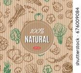 fresh vegetables vector concept ... | Shutterstock .eps vector #676009084
