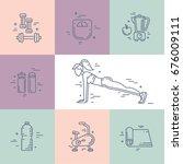 vector line style design... | Shutterstock .eps vector #676009111
