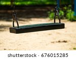 swing for child on the weekend | Shutterstock . vector #676015285