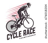 cycle race. sport emblem | Shutterstock .eps vector #676018204