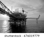 an offshore oil and gas... | Shutterstock . vector #676019779
